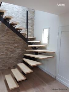 rénovation de l'escalier