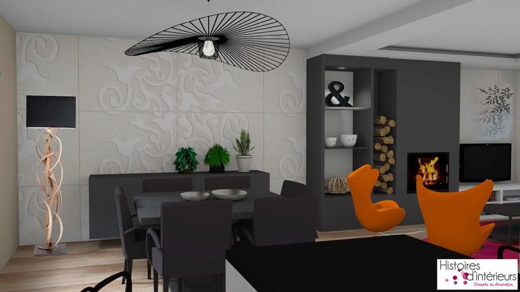 Rénovation plète d un salon séjour cuisine à Lesconil