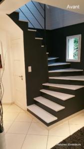 Escalier avant relooking (Fouesnant)